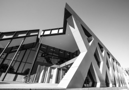 Photo of the exterior facade of the Library Museum in Albury