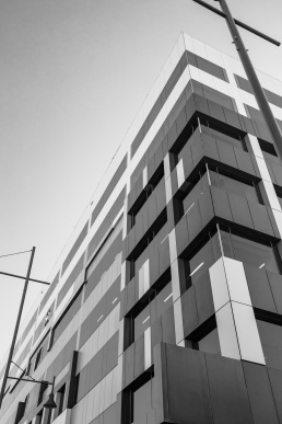 A low angle photo of the facade of the Australian Taxation offices in Albury